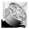 5 LUG BLVD - U126 CHROME W/ KNOCK OFF CAP