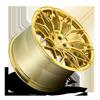 5 LUG BTC CANDY GOLD W/ BRUSHED FACE POLISHED WINDOWS