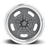 5 LUG BONNEVILLE - US309 TEXTURED GREY WITH POLISHED TRADITIONAL LIP