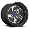 5 LUG CHD-T BRUSHED W/ GLOSS BLACK & PURPLE