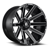 6 LUG CONTRA - D615 22X12 -44 | 6 LUG | GLOSS BLACK & MILLED