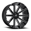 8 LUG CONTRA - D615 26X12 | GLOSS BLACK & MILLED