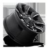 5 LUG STRYKER - D571 GLOSS BLACK & MILLED