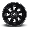 8 LUG CLEAVER DUALLY REAR - D574 BLACK & MILLED