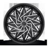 6 LUG DAZR - XA20 GLOSS BLACK & MILLED