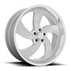 5 LUG DESPERADO 5 - U134 SILVER BRUSHED WITH DIAMOND CUT LIP - 24X9