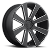 6 LUG 8-BALL - S187 BLACK & MILLED