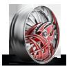 5 LUG S607-RAZZ RED W/ CHROME ACCENTS