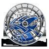 5 LUG S607-RAZZ BLUE W/ CHROME ACCENTS