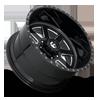 8 LUG FF09D - 8 LUG SUPER SINGLE FRONT MATTE BLACK MILLED