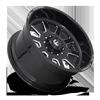 10 LUG FF09D - 10 LUG SUPER SINGLE FRONT GLOSS BLACK & MILLED