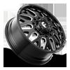10 LUG FF19D - FRONT GLOSS BLACK MILLED - 22X8.5