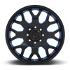 8 LUG FF19D - FRONT GLOSS BLACK W/ TRANS BLUE