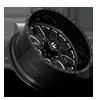 8 LUG FF19D - SUPER SINGLE FRONT GLOSS BLACK MILLED