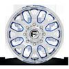 8 LUG FF19D - FRONT POLISHED W/ TRANS BLUE
