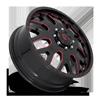 8 LUG FF19D - FRONT GLOSS BLACK W/ DEEP CHERRY RED