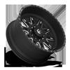 10 LUG FF26D - 10 LUG SUPER SINGLE FRONT MATTE BLACK & MILLED