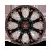 5 LUG ASSAULT - D787 MATTE BLACK MILLED WITH RED TINT