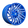 6 LUG TYPHOON - D774 ANODIZED BLUE MILLED