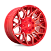 6 LUG TWITCH - D771 CANDY RED & MILLED