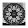 6 LUG UNIT - D784 MATTE ANTHRACITE W/ BLACK RING