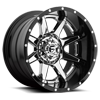 6 LUG RAMPAGE - D247 CHROME CENTER AND GLOSS BLACK OUTER