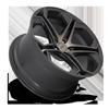 5 LUG IMPALA - F168 MATTE BLACK/MACHINED/DDT