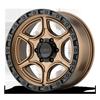 6 LUG KM539 PORTAL MATTE BRONZE W/ BLACK RING