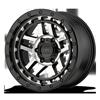 6 LUG KM540 RECON SATIN BLACK MACHINED FACE