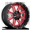 6 LUG MAVERICK D250 CANDY RED W/ GLOSS BLACK LIP