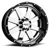 5 LUG MO200 CHROME CENTER W/ GLOSS BLACK MILLED LIP