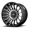 6 LUG MO807 SHOCKWAVE GLOSS BLACK MACHINED
