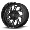 6 LUG MO999 GLOSS BLACK MILLED