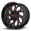 6 LUG MO999 GLOSS BLACK RED MILLED