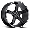 4 LUG MR122 SATIN BLACK W/ MACHINED STRIPE