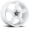 5 LUG MR122 WHITE W/ MACHINED LIP GROOVE