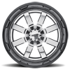 8 LUG MO200 CHROME CENTER W/ GLOSS BLACK MILLED LIP