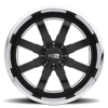 8 LUG MO200 GLOSS BLACK MILLED CENTER W/ CHROME LIP