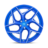 5 LUG TORSION - M268 ANODIZED BLUE MILLED