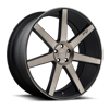 5 LUG VERONA - M150 SUV BLACK & BRUSHED WITH DOUBLE DARK TINT