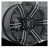 6 LUG 902 FLAT BLACK MACHINED