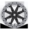 4 LUG M31 LOK2 BEADLOCK SATIN BLACK W/ MATTE GRAY RING
