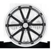 5 LUG RAMBLER - U117 GLOSS BLACK & MILLED W/ DIAMOND CUT LIP