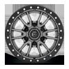6 LUG REBEL 6 - D680 ANTHRACITE CENTER W/ BLACK LIP - 16X8