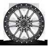 6 LUG REBEL 6 - D680 ANTHRACITE CENTER W/ BLACK LIP
