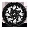 8 LUG RUNNER DUALLY REAR - D741 GLOSS BLACK MILLED - 20X8.25 - ET-240