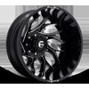 8 LUG RUNNER DUALLY REAR - D741 GLOSS BLACK MILLED - 22X8.25 - ET-214