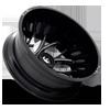 8 LUG RUNNER DUALLY REAR - D741 GLOSS BLACK MILLED - 22X8.25 - ET-240