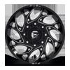 8 LUG RUNNER DUALLY FRONT - D741 GLOSS BLACK MILLED
