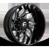 8 LUG RUNNER DUALLY REAR - D741 GLOSS BLACK MILLED - 24X8.25 ET-176